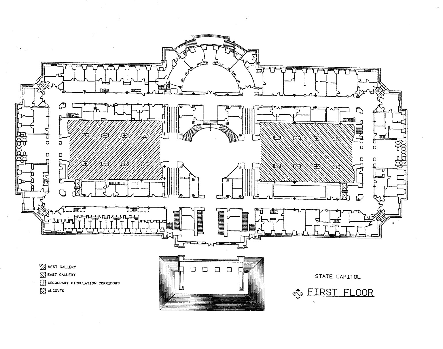 First Floor of the Missouri State Capitol Map