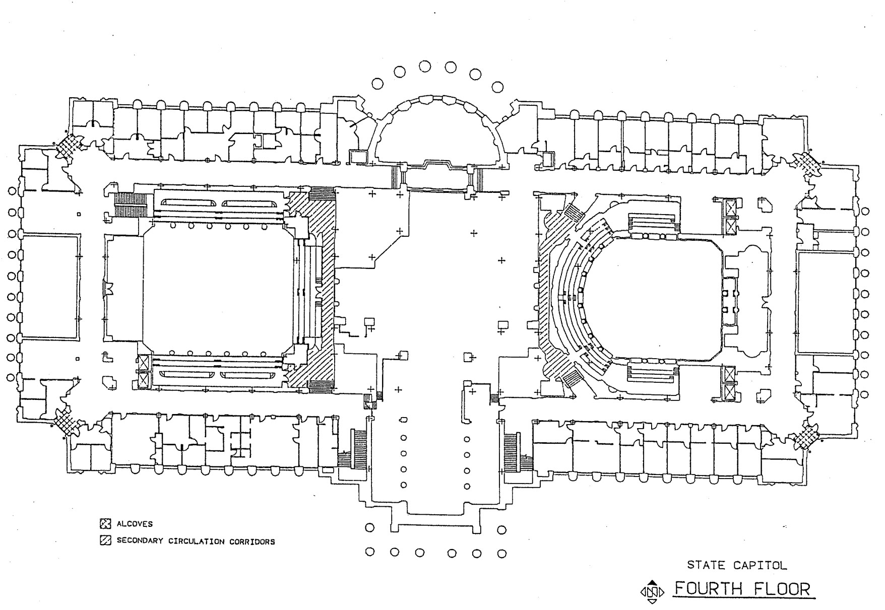 Fourth floor of the Missouri State Capitol map