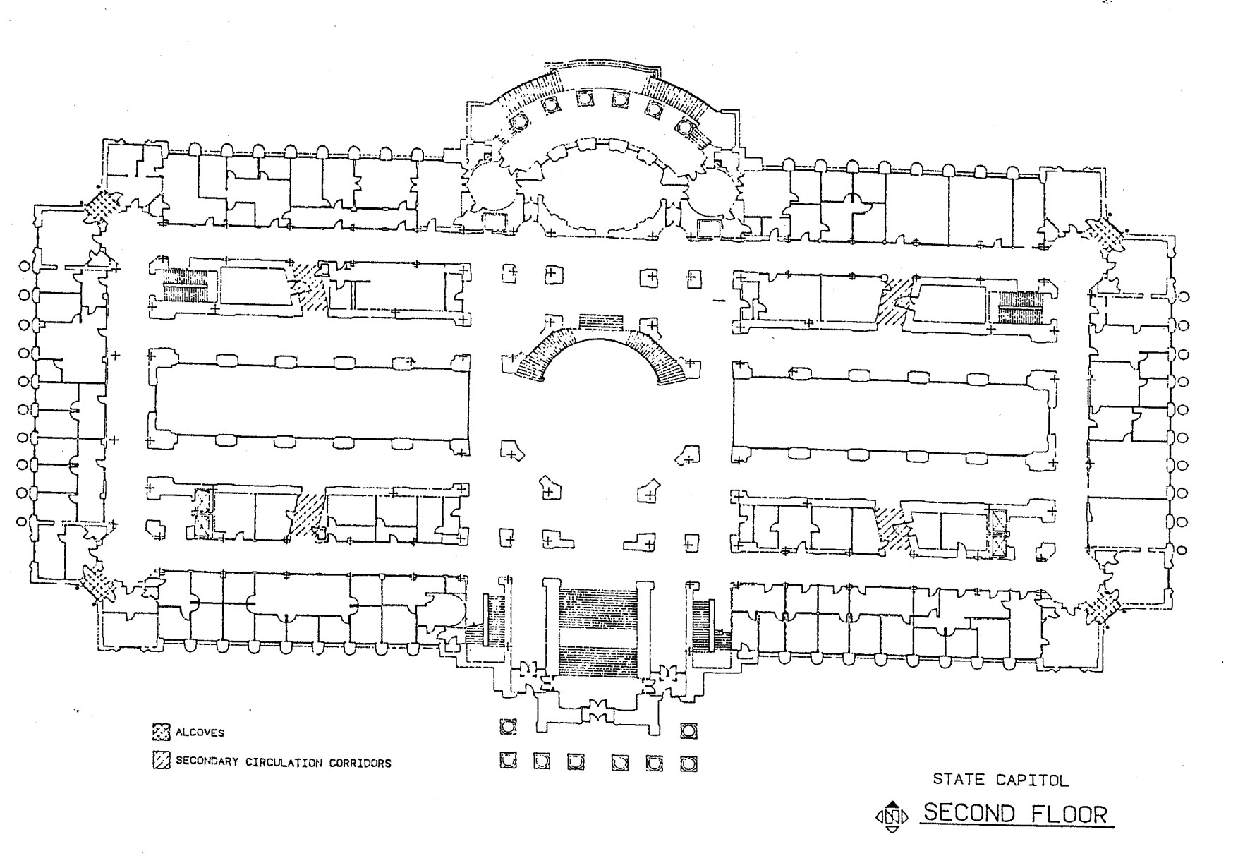 Second floor of the Missouri State Capitol map