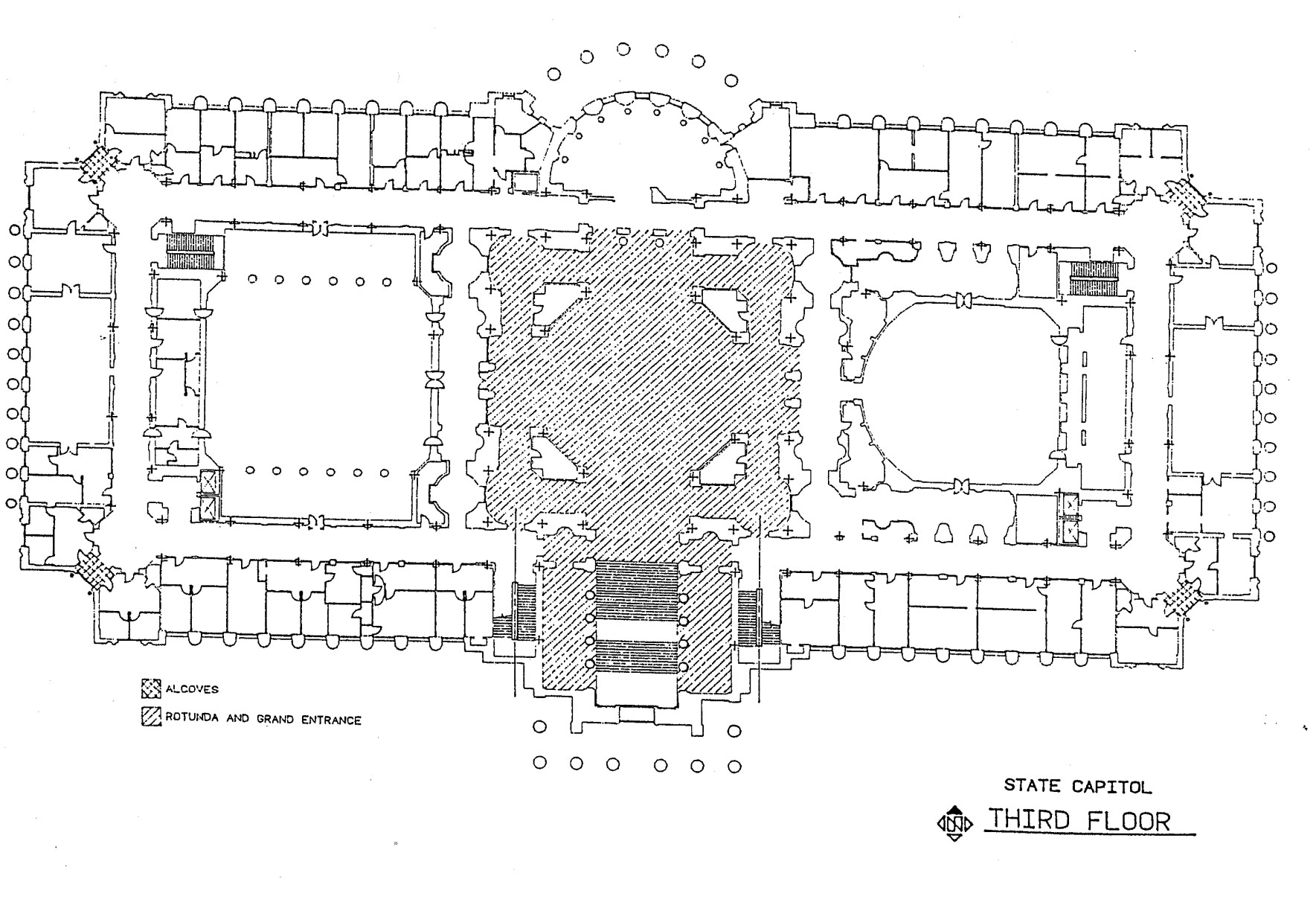 Third floor of the Missouri State Capitol map